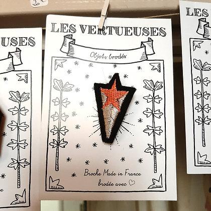 broche brodée étoile les Vertueuses boutique Cam LE MAC