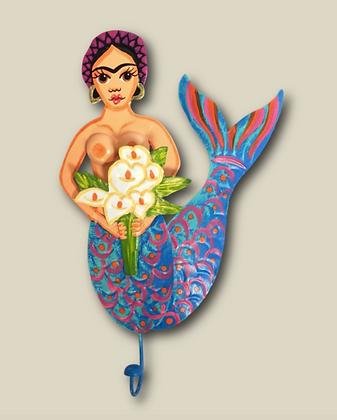 patère sirène frida kahlo esquipulas décoration murale boutique cam le mac