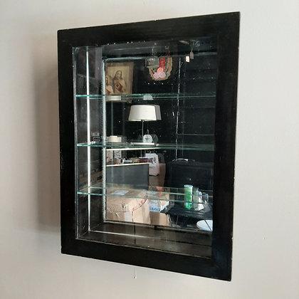 vitrine bois et verre