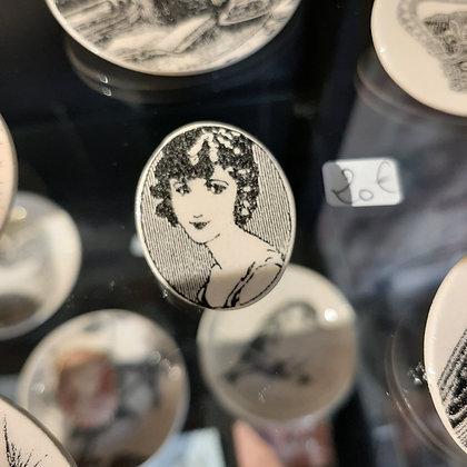 broche céramique femme charleston créateur Stéphanie Cahorel