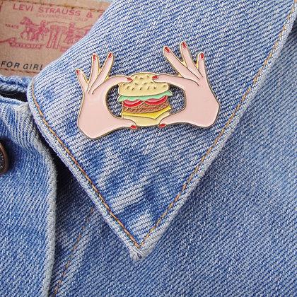 pin's burger coucou suzette boutique cam le mac