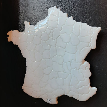 carte de france en céramique
