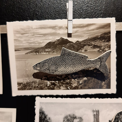 broche céramique poisson Stéphanie Cahorel photo vintage