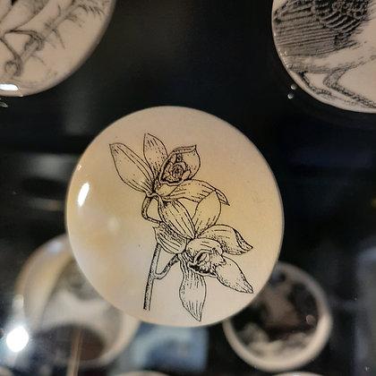 broche céramique fleurs créateur Stéphanie Cahorel