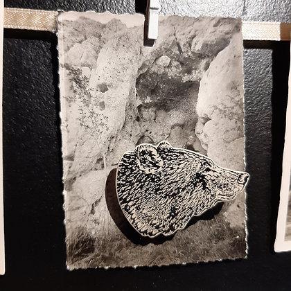 broche céramique ours Stéphanie Cahorel photo vintage