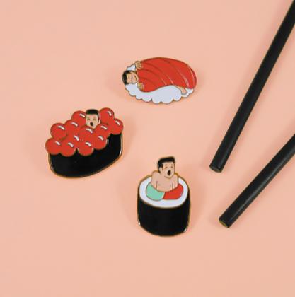 pin's homme sushi/maki coucou suzette boutique cam le mac