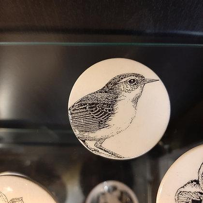 broche céramique oiseau créateur Stéphanie Cahorel