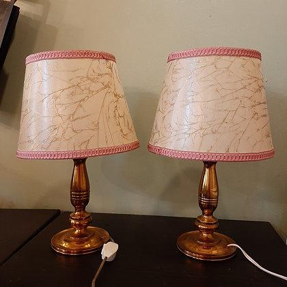 paire de petites lampes en laiton