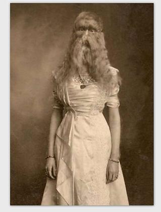 carte femme à barbe