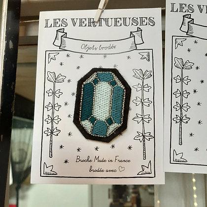 broche brodée diamant les Vertueuses boutique Cam LE MAC