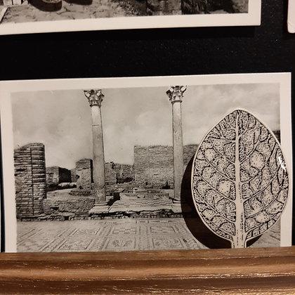 broche céramique végétale feuille Stéphanie Cahorel photo vintage