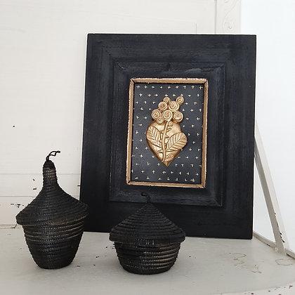 cadre exvoto décoration murale coeur sacré bondieuserie création cam le mac