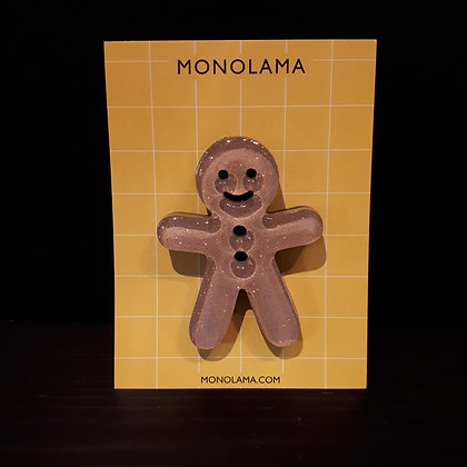 Broche gingerbread monolama