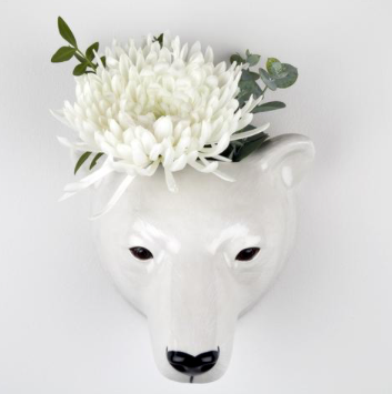 trophée céramique ours blanc quail ceramics cabinet de curiosités boutique cam le mac