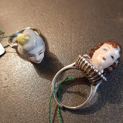 bagues poupées porcelaine C. Guerre boutique cam le mac