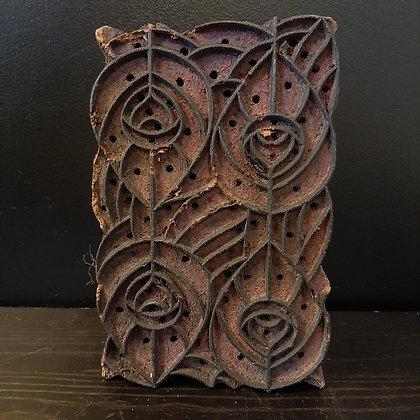 Ancien tampon textile art déco
