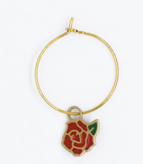 créoles diamant/rose La Tatoueuse boutique cam le mac