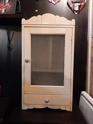 armoire pharmacie vintage écrue