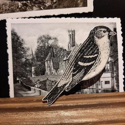 broche céramique oiseau Stéphanie Cahorel photo vintage
