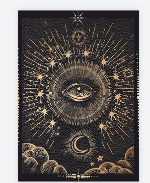 carte oeil lune