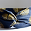 bandeau bleu marine or headband tissu bio hermanitas boutique cam le mac