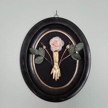 cadre exvoto décoration murale main sacrée bondieuserie création cam le mac