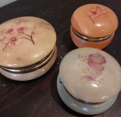 boites onyx pilulier bijoux brocante