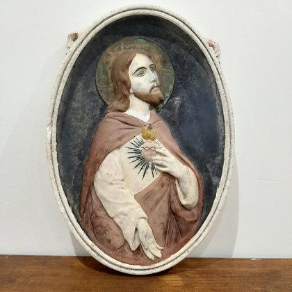 exvoto céramique jesus coeur sacré