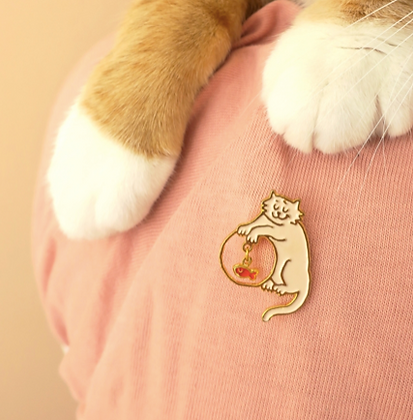 pin's chat coquin coucou suzette boutique cam le mac