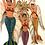 décoration murale sirène frida kahlo ange esquipulas