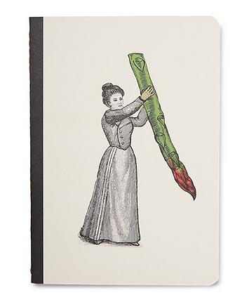 carnet A6 Miss Asparagus par Gangzaï recto