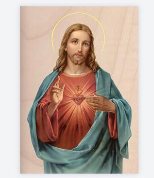 carte jésus coeur sacré 2