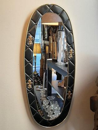 miroir skaï noir