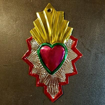 exvoto mexicain coeur sacré décoration murale esquipulas boutique cam le mac