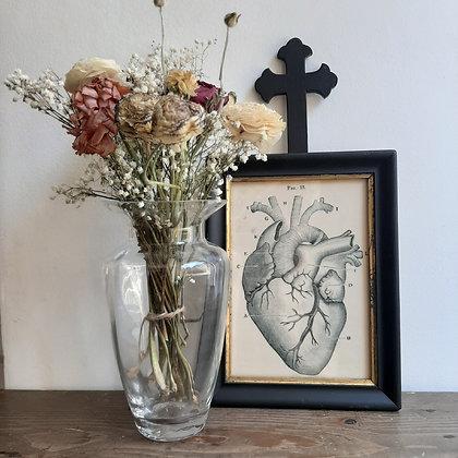 CADRE CHEMIN DE CROIX coeur anatomique cabinet de curiosités cam le mac
