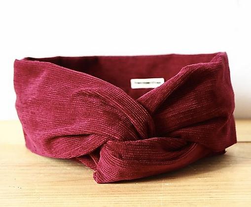 bandeau bordeau  headband tissu bio hermanitas boutique cam le mac