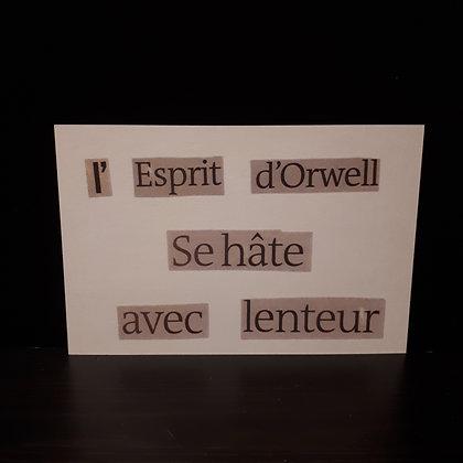 carte orwell...le pari des mots