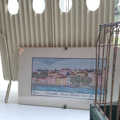 gravure ancienne Lyon St Vincent