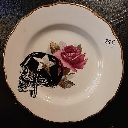 assiette crane casqué