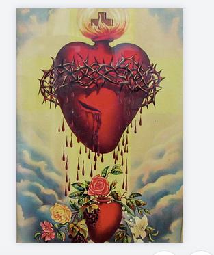 carte exvoto coeur rouge