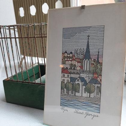 gravure ancienne Lyon St Georges