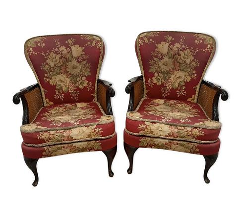 Duo de fauteuils rétro