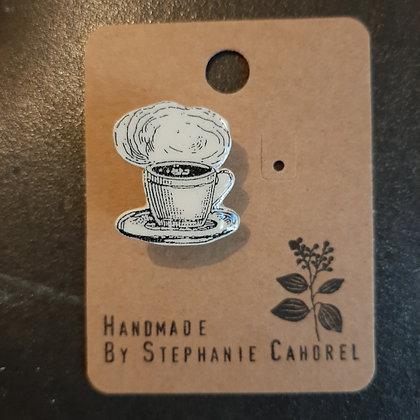 broche céramique tasse à café Stéphanie Cahorel