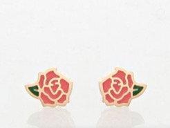 boucles d'oreilles puces roses dorées La Tatoueuse boutique cam le mac