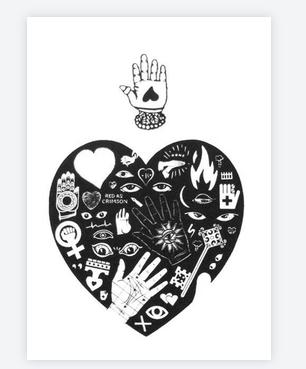 carte tattoo coeur