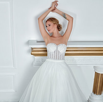 017120 A Line Wedding Dress