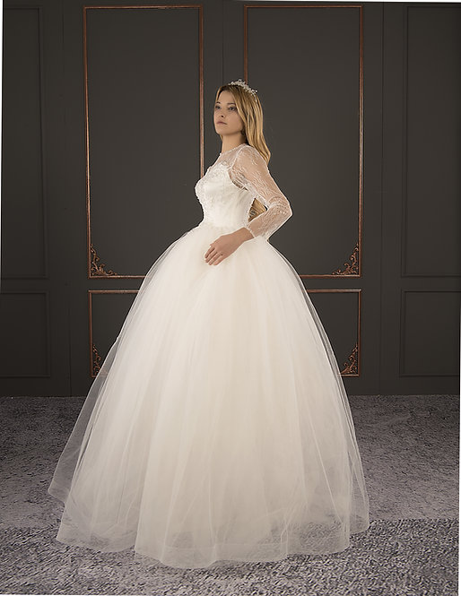 21039 Hand Beaded Wedding dress