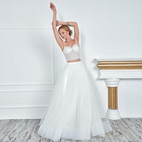 017113 A Line Wedding Dress