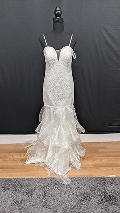 21025 Mermaid Hand Beaded  Wedding Dress