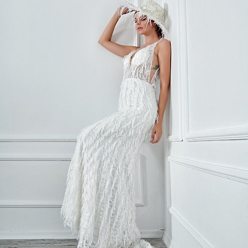 017126 Mermaid Wedding Dress